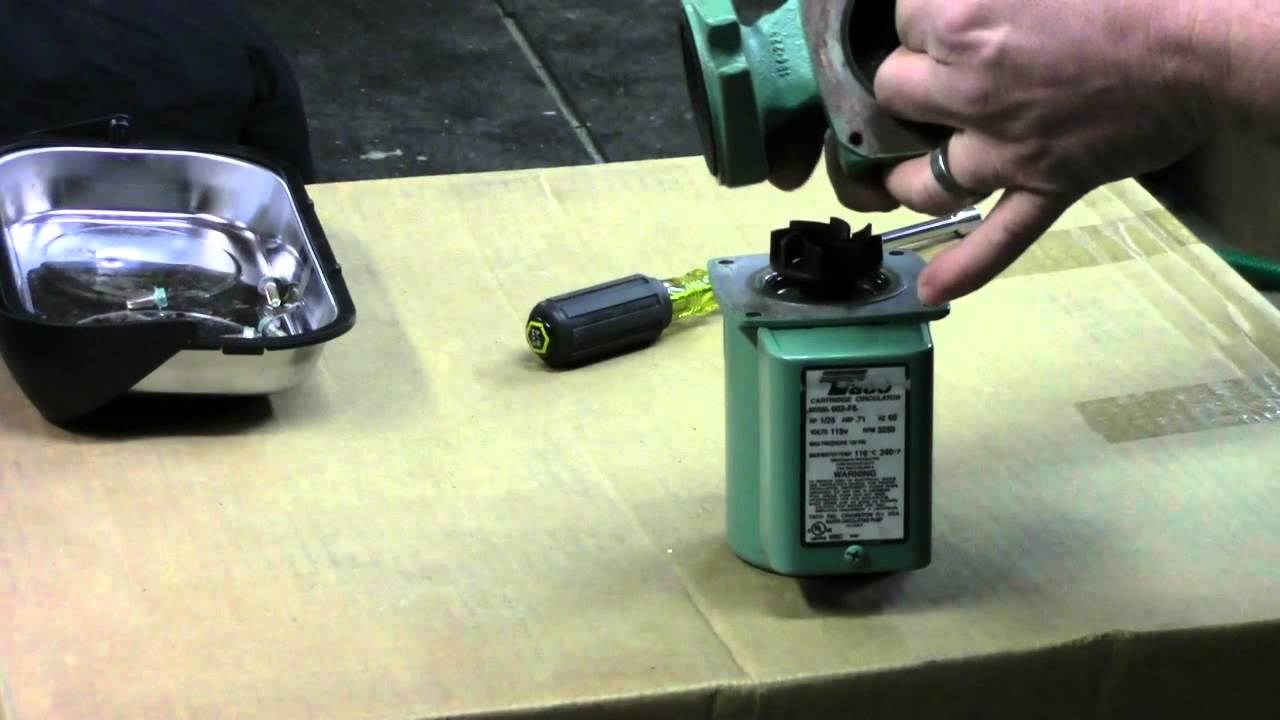 Taco 007 circulator pump repair - YouTube