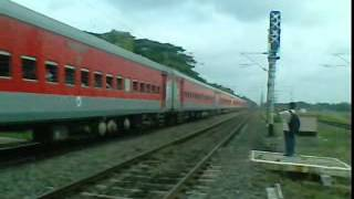 Poorva Express in Brand New LHB Avatar Thunders Down the Track with Red Hot Howrah WAP4!
