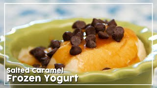 Salted Caramel Frozen Yogurt - Delicious Frozen Dessert Recipe - My Recipe Book By Tarika Singh