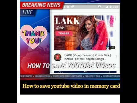 How To Save Youtube Video To Gallery !! By Technicalvinod 4 You