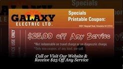 Electricians Alexandria - Receive $25 Coupon: Galaxy Electric (703) 922-1900