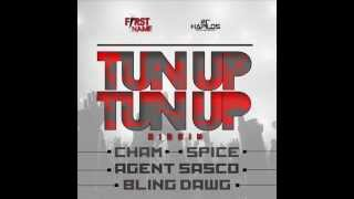 TUN UP TUN UP RIDDIM MIXX BY DJ-M.o.M CHAM, AGENT SASCO, SPICE, LADY SAW & BLING DAWG