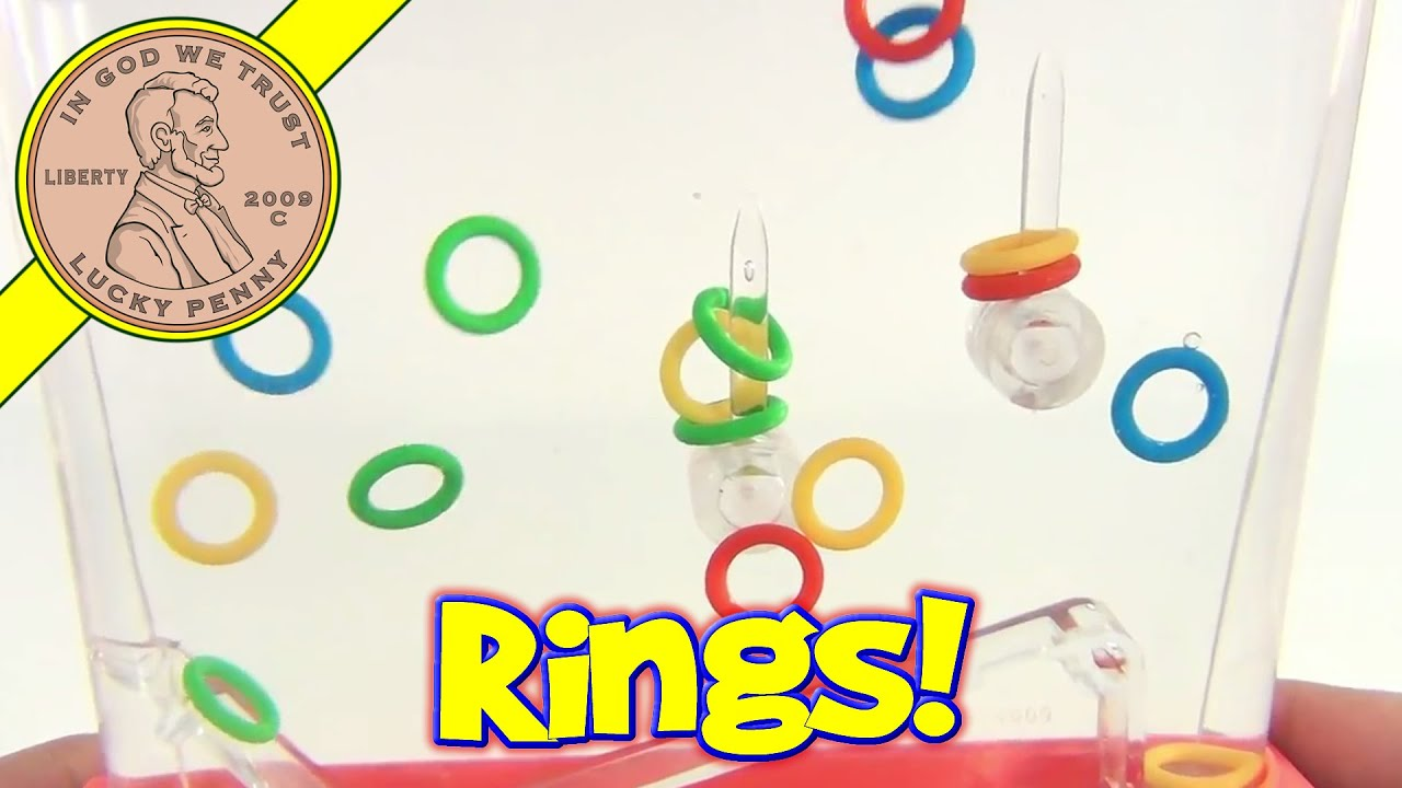 ring game waterful classic tomy toy handheld water youtube toss rings watch loop