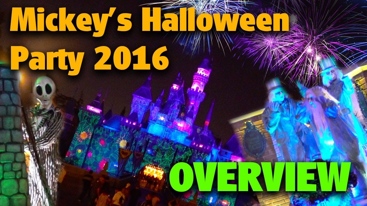 mickey's halloween party 2016 | disneyland - youtube