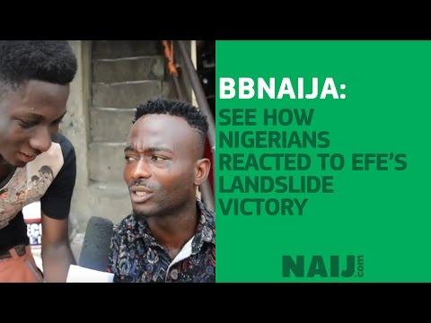 BBNaija: See how Nigerians reacted to Efe's landslide victory