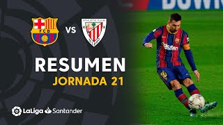 Resumen de FC Barcelona vs Athletic Club (2-1)