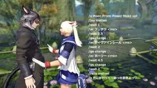 【FF14】白魔道士変身マクロ~セラ○ンコス~