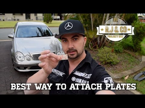 Best way to mount - attach License plates / Number plates with no holes DIY