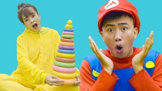 Learn Colors with Color Circle Toys for Kids | Educational videos for Children | Apple Family Show