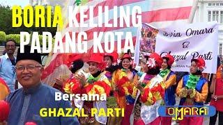 Boria Ghazal Parti Silat dan Chingay keliling Padang Kota riuh rancak
