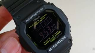**** CASIO G-Shock GW-M5610NV (Model 3159) Military UTC Multi Band 6 Navy 2016