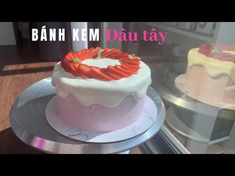Bánh kem dâu tây    Strawberry cake   Foci