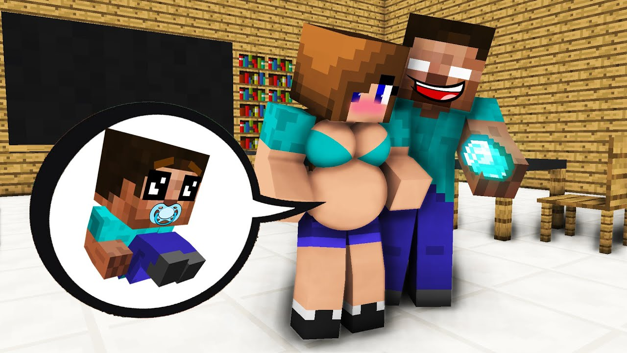 Monster School :  A NEW BABY?? - Minecraft Animation