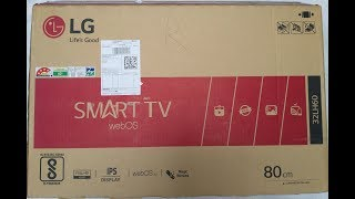 LG TV Unboxing 2017 32LH604T Full HD LED Smart TV with Wall Mount in Hindi