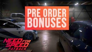 Need for Speed Payback - Platinum Cars Pack DLC (Deluxe Edition) Pre Order Bonus DLCs