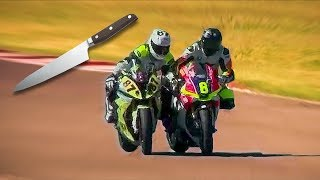 FIGHTING ON TRACK WITH BIKES? - A DUEL OR A WAR ON BIKES [ENGLISH SUBTITLES]