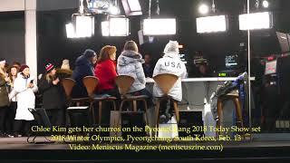 Chloe Kim gets her churros on the PyeongChang 2018 Today Show set - Meniscus Magazine