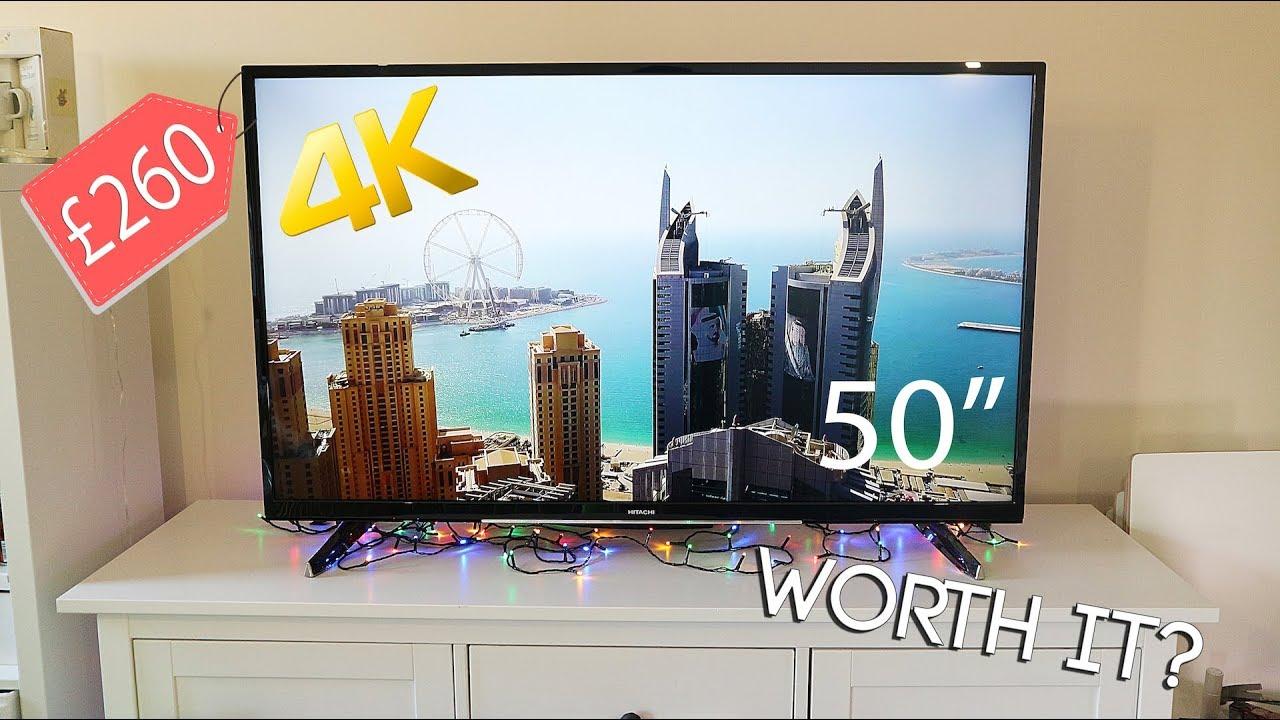 Are Cheap 4K TV\u0027s Worth Buying ? - Hitachi 50 Inch 4K Ultra HD Smart