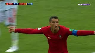 برتغال رونالدو تتعادل مع إسبانيا   Ronaldo VS Spain