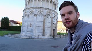 Alone at the Leaning Tower of Pisa, Post Lockdown Italy 🇮🇹