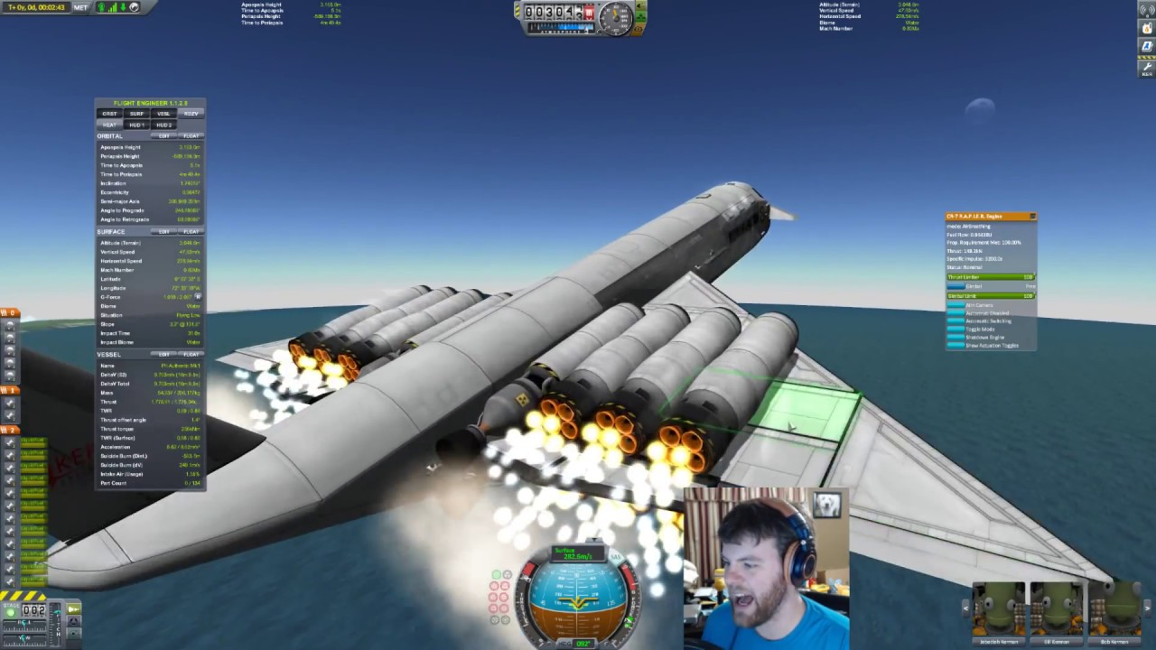Kerbal Space Program - My First 100% Stock SSTO - Live (04 ...