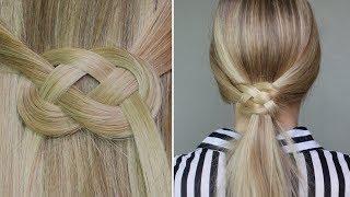 ✄ Demi-queue ou queue de cheval avec noeud infinity ♥ noeud marin Thumbnail