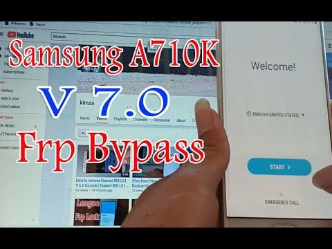 Full Step How To Remove Frp Lpck Samsung A7 2016 V7 0 Samsung A710K V 7 0  Frp Bypass