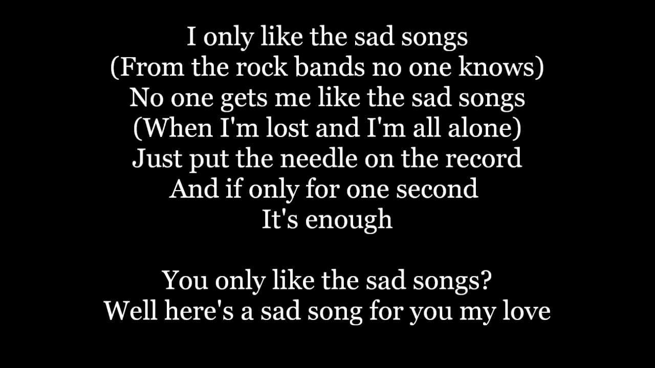 The Maine - Sad Songs Lyrics - YouTube Sad Lyrics