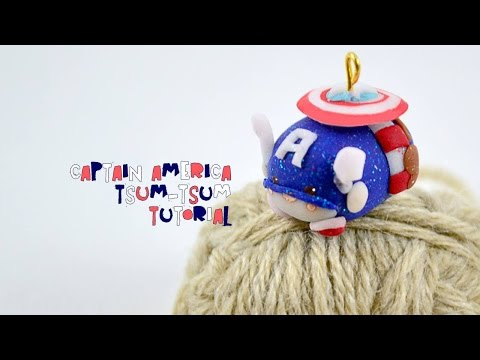 Tsum-tsum Captain America Disney and Marvel inspired charm - easy tutorial - contest + giveaway!