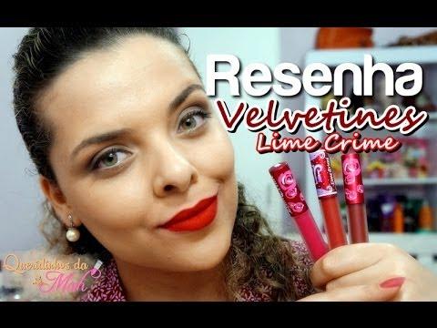 Resenha: Velvetines Lime Crime - Pink Velvet, Red Velvet e Wicked ♥