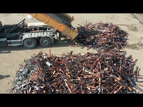 Belgian authorities melt 22,000 guns into 60 tons of steel