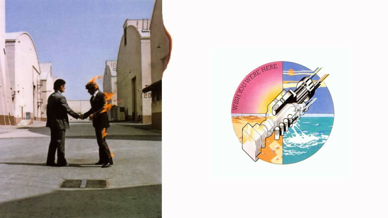"an analysis of wish you were here The picture above is an album cover of a popular pink floyd album ""wish you were here"" at a glance you can notice the main focus is a still frame of two men shaking hands while on is on fire along the side of the image is a thin white strip with the album title along with a small symbol of a ."