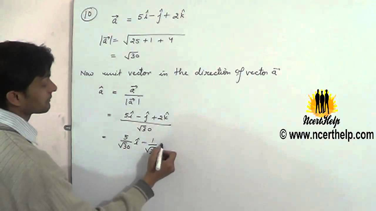 Find A Vector In The Direction Of Given Vector Which Has Magnitude 8 Units Youtube