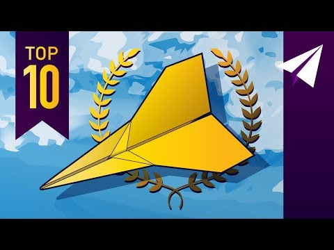TOP 10 Paper Airplanes of 2018! Paper Airplane Flight Test Compilation of the BEST Planes This Year