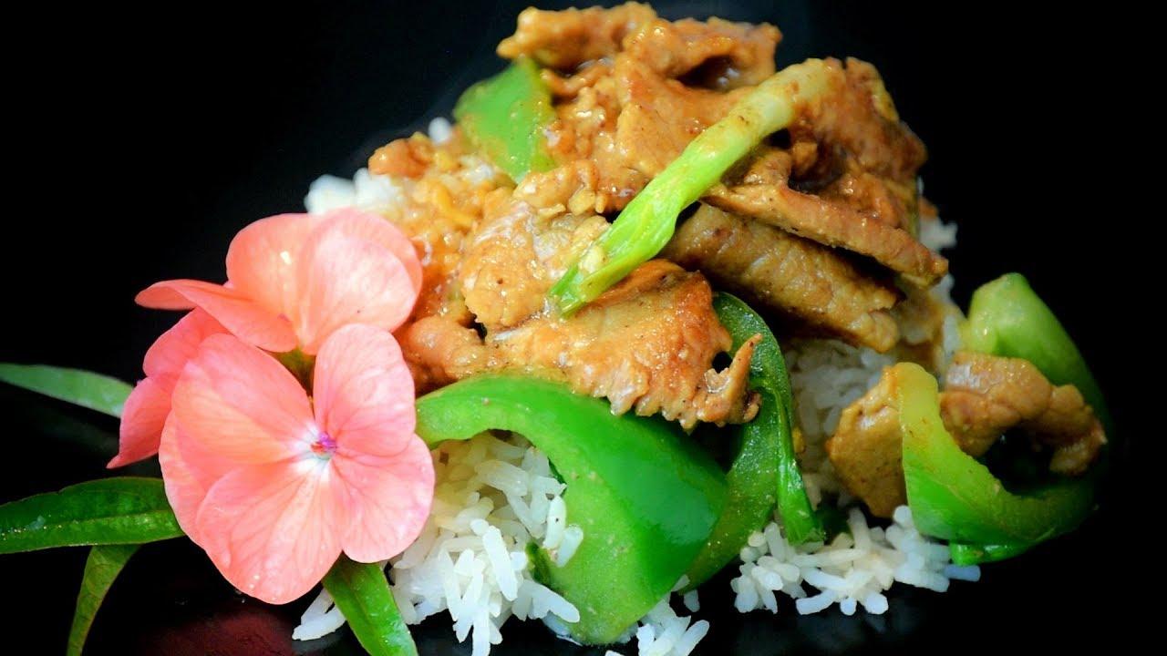 Chinese Ginger Pork & Honey Stir-Fry - Chinese Style Recipe - Buy American