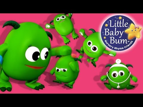 Five Little Monsters Jumping On The Bed  Nursery Rhymes   LittleBaBum!