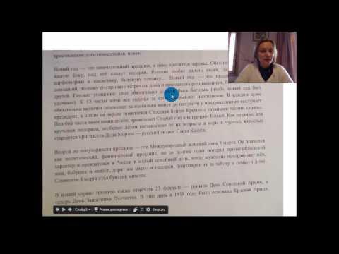 Lettura dei testi russi x la Vittoria