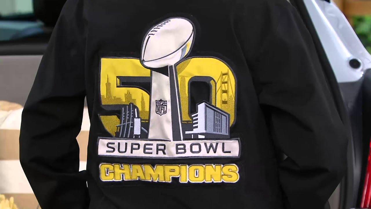 NFL Super Bowl 50 Champions Denver Broncos Men s Shell Jacket on QVC ... 6b72ce274