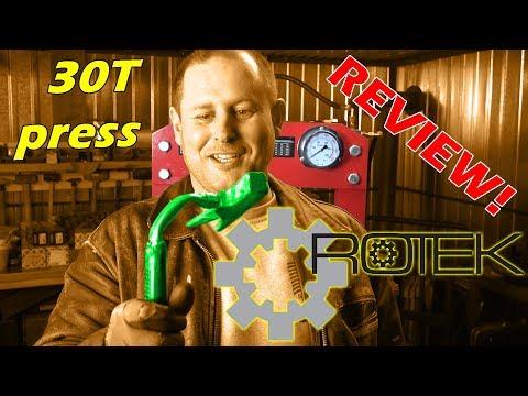 ROTEK 30t Werkstattpresse (30T Hydraulic press) WZWP-030MPV review