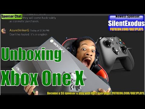 Xbox One X Unboxing! 4K Gaming Begins!