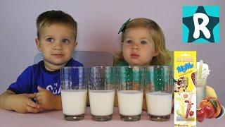 ★ Пробуем Вкусные ВОЛШЕБНЫЕ СОЛОМИНКИ для Молока Tasting Quick Milk candy unboxing