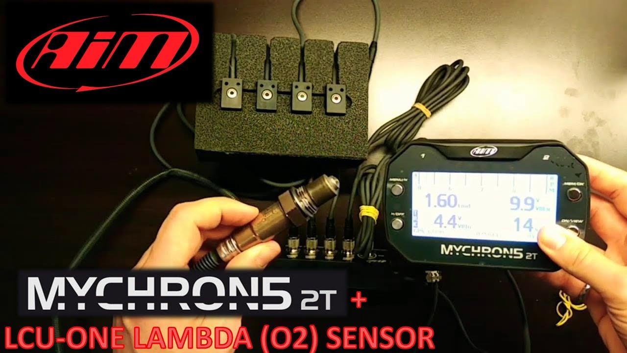 AiM MyChron 5 2T with LCU-ONE Lambda Sensor Configuration