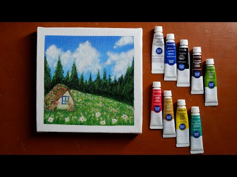 art-journal-#4-/-acrylic-/-painting-/-little-house-on-the-prairie