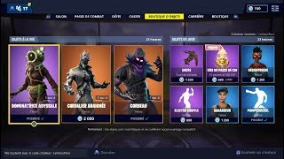 "FORTNITE Shop of February 23 Skins ""ABYSSAL RAVAGEUR"" - ""CHEVALIER SPIDER"" - ""CORBEAU""!"
