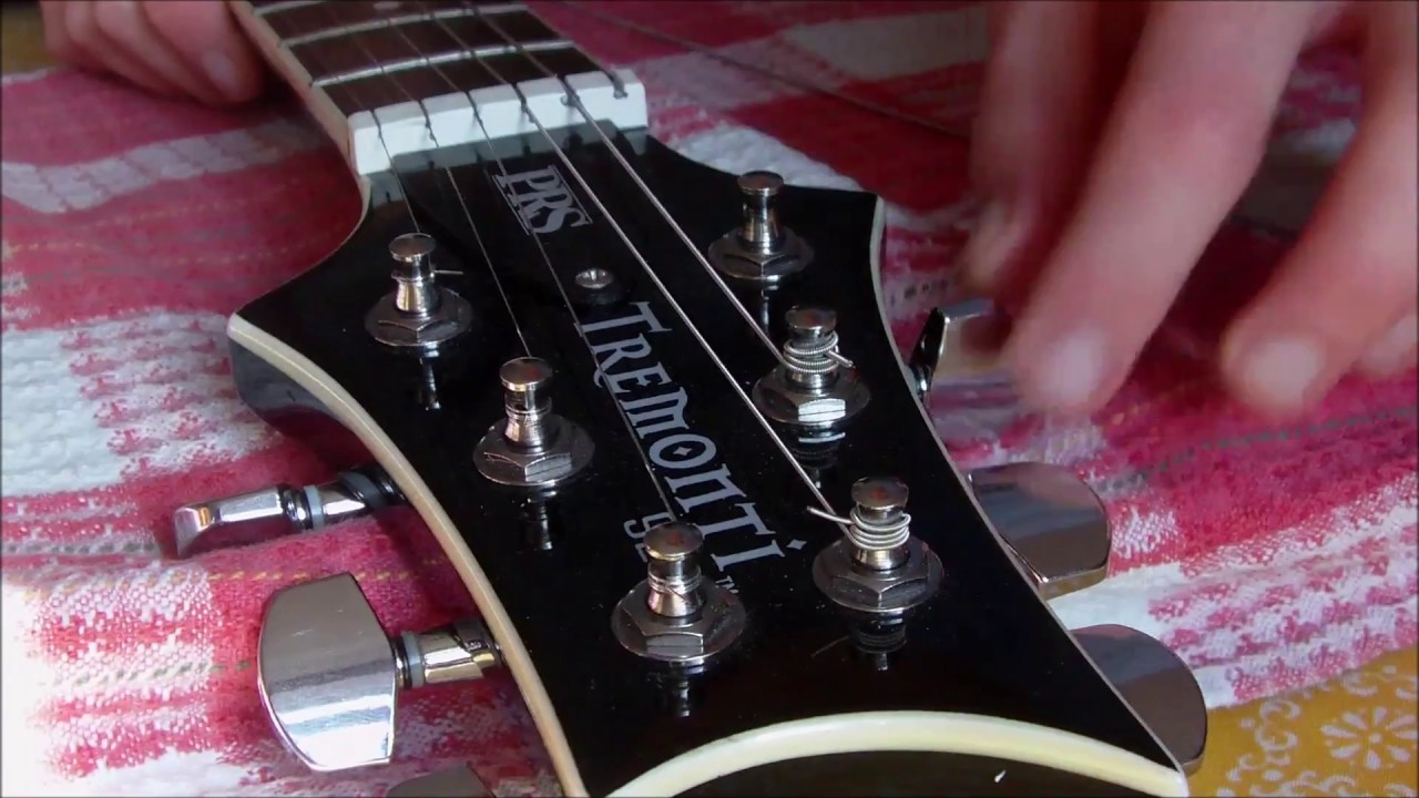 Fitting Locking Tuners to My PRS SE Guitar