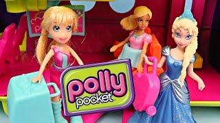 polly pocket frozen elsa magic clip dolls airplane barbie toys r us toy disney barbie playset