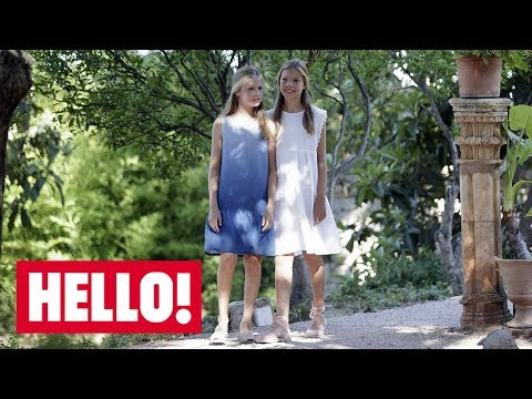 Celebrity daily edit: Princess Leonor of Spain and Sofia's sightseeing Majorcan fun - video