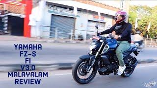 Yamaha FZ-S v3.0 Malayalam Review!!