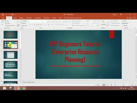 Career into ERP for Beginners
