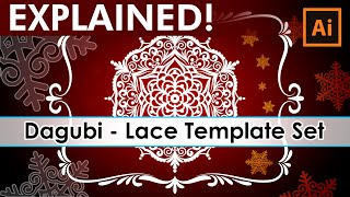 How to work with - Dagubi Lace Template Set - Adobe Illustrator Tutorial